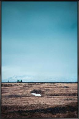 Lonely Little House - Poster in Standard Frame