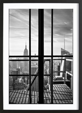 Window To The World - Poster in houten lijst