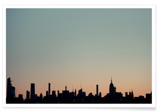 Skyline Silhouette poster