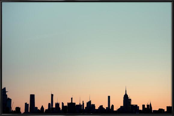 Skyline Silhouette -Bild mit Kunststoffrahmen