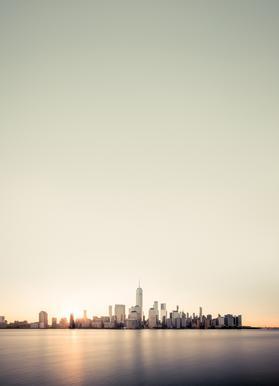 Skyline -Leinwandbild