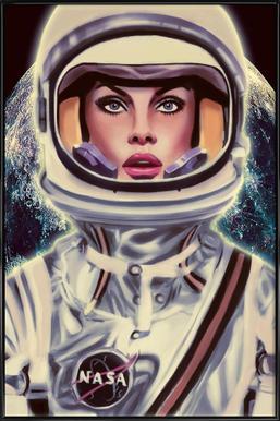 Le Cosmonaute -Bild mit Kunststoffrahmen