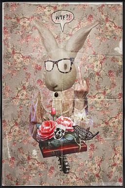 Lady Bunny WTF Framed Poster