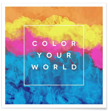Color Your World Poster