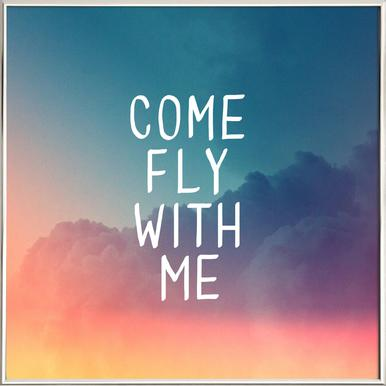 Come Fly with Me poster in aluminium lijst