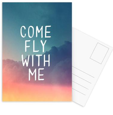 Come Fly with Me -Postkartenset