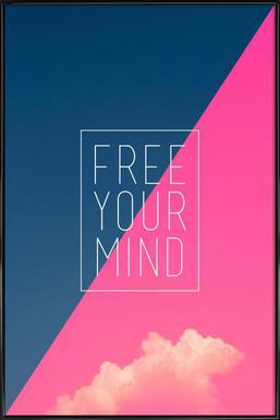 Free Your Mind III ingelijste poster