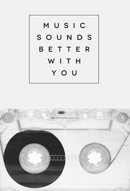 Music Sounds Better With You Aluminium Print