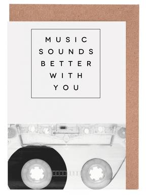 Music Sounds Better With You Greeting Card Set
