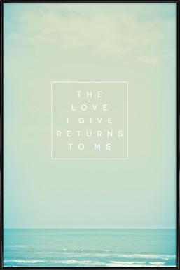 The Love I Give II ingelijste poster