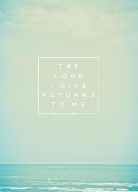 The Love I Give II -Leinwandbild