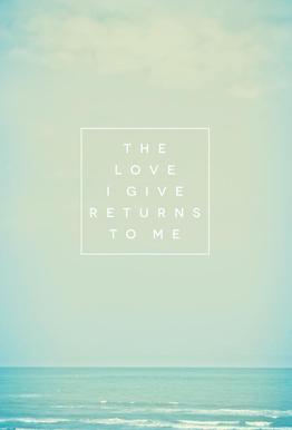 The Love I Give II alu dibond