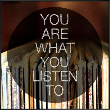 You Are What You Listen To ingelijste poster
