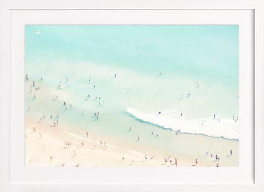 Beach Love - Poster in Wooden Frame