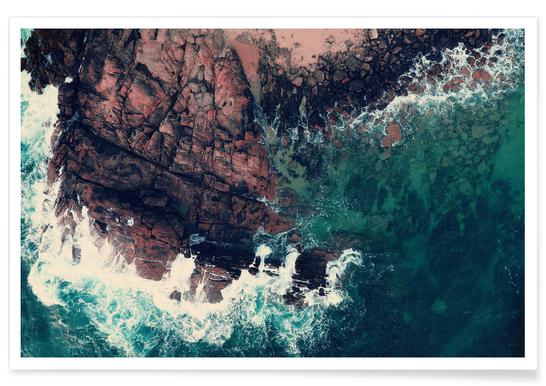 Emerald Green Sea Poster