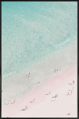 Beach Love - Poster in kunststof lijst