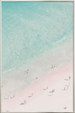 Beach Love poster in aluminium lijst