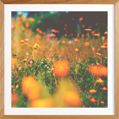sweet summer - Poster in Wooden Frame