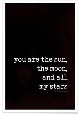 sun, moon stars