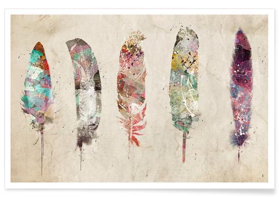 Pop Art Feathers Plakat