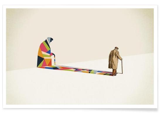 Walking Shadow - Old Man -Poster