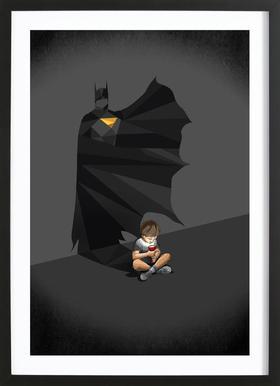Walking Shadow - Hero 2 Framed Print