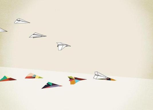 Walking Shadow - Paper Planes canvas doek