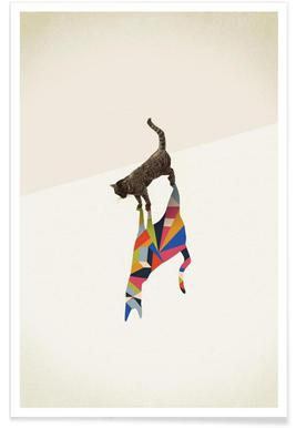 Walking Shadow - Cat -Poster