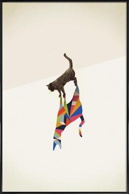 Walking Shadow - Cat ingelijste poster