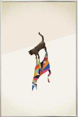 Walking Shadow - Cat poster in aluminium lijst