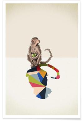 Walking Shadow - Monkey Poster