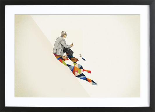 Walking Shadow - Lunch Framed Print