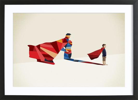 Walking Shadow - Hero 1 Framed Print
