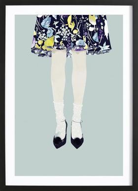 Moi - Poster in Wooden Frame