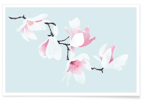 Magnolia Blossom - Premium Poster