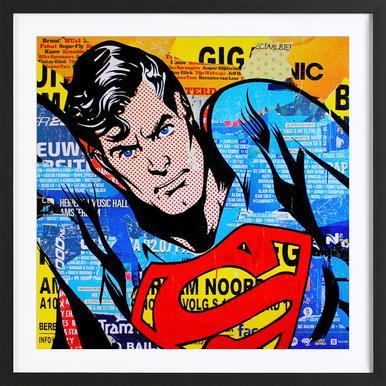 Clark - Poster in Wooden Frame