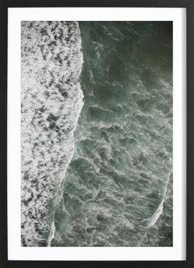 Oceanic 01 -Bild mit Holzrahmen