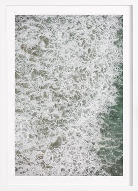 Oceanic 02 - Poster in Wooden Frame