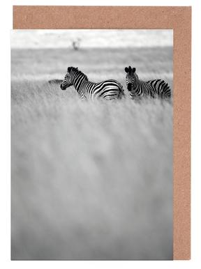 Zebra Pair Greeting Card Set