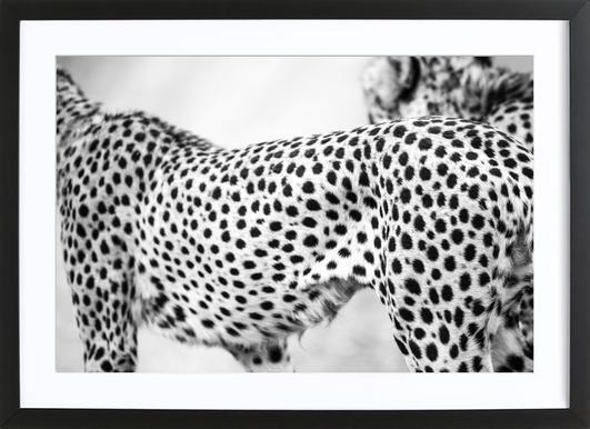 Cheetah -Bild mit Holzrahmen