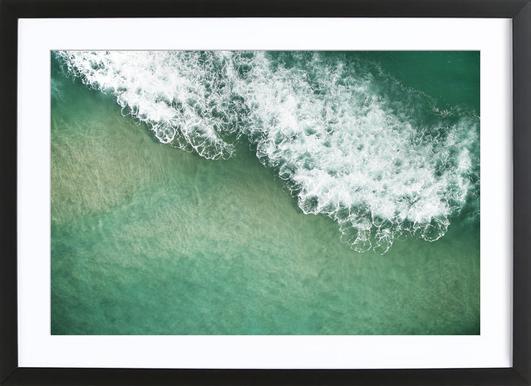 Wavescapes 02 -Bild mit Holzrahmen