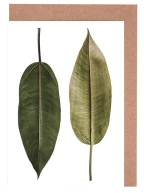 Leaf Study 5 -Grußkarten-Set