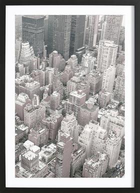 NYC -Bild mit Holzrahmen