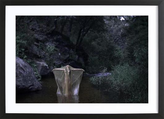 River Stories -Bild mit Holzrahmen
