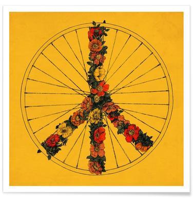 Peace & Bike Poster