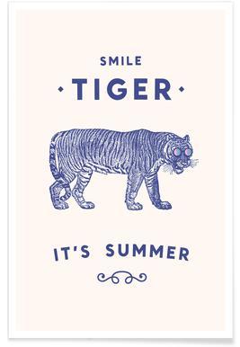 Smile Tiger Poster
