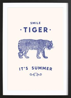 Smile Tiger Framed Print