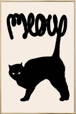Meow poster in aluminium lijst