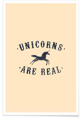 Unicorns Are Real I -Poster