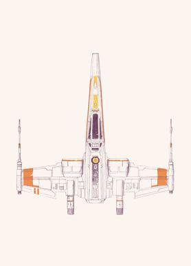 X Wing canvas doek